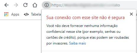 Chrome passa a alertar sites que não usam HTTPS como não seguros 1